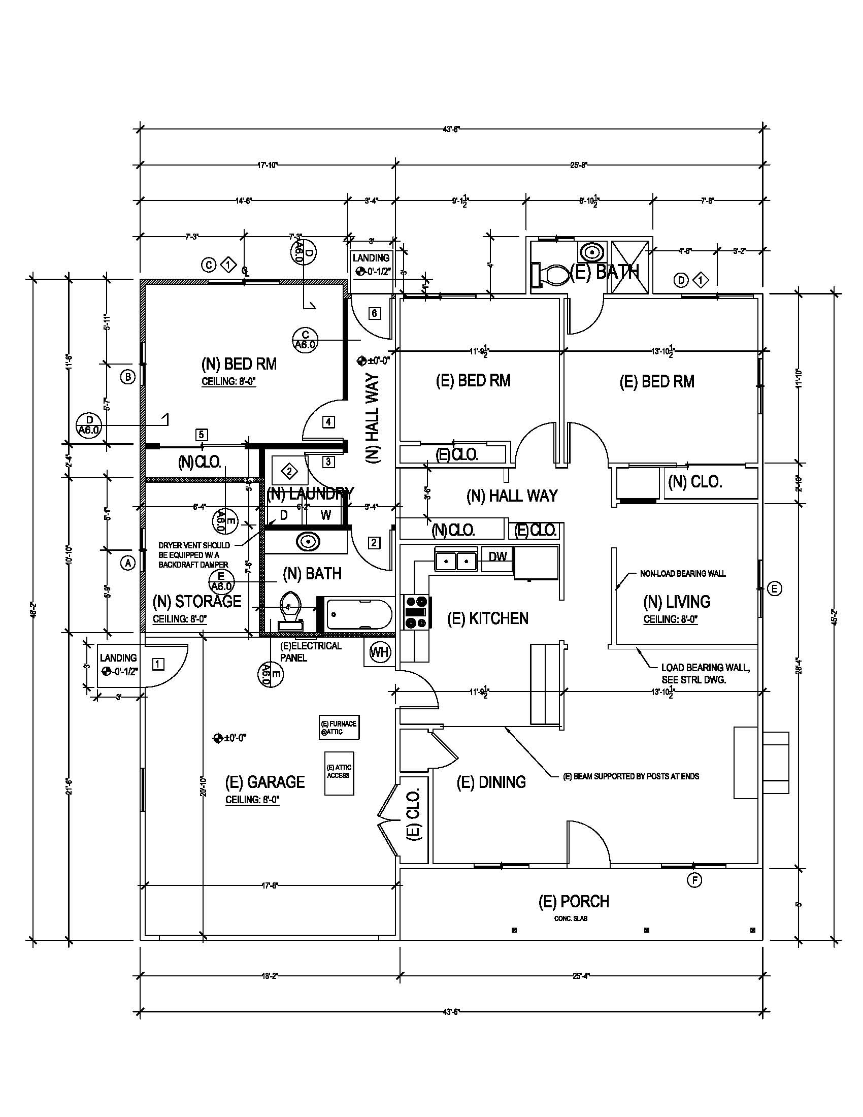 Building permit drawings for Residential blueprints